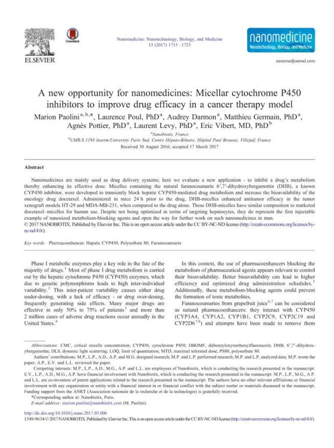 2017 – A new opportunity for nanomedicines – Paolini et al.