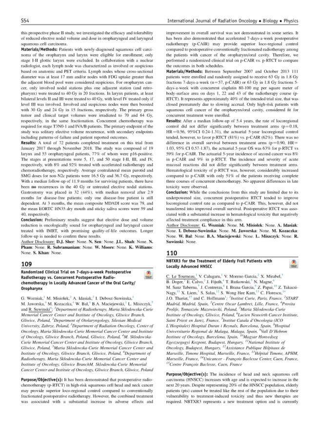 2019 – ASTRO – NBTXR3 for the treatment of locally advanced HNSCC