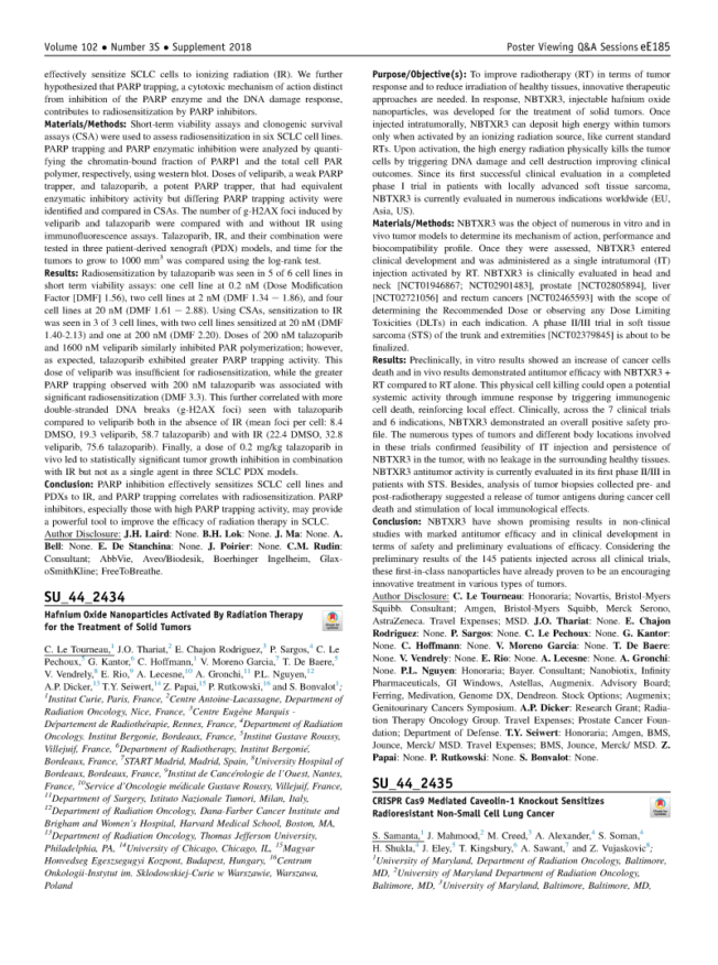 2020 – ASTRO – NBTXR3 in HNSCC